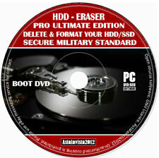Erase Wipe Format Clean Delete Your Hard Or SSD Drive Data Eraser PC MAC Boot CD