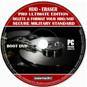 Erase Wipe Format Delete Clean Hard Or SSD Drive Data Pro Eraser PC MAC Boot CD+