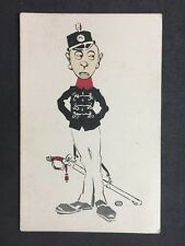 More details for vintage postcard: artist signed b : comic french military police :  #a205
