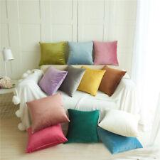 "Velvet Home Decor Cushion Covers Cosy Sofa Pillowcase 18x18"" Throw Pillow Covers"