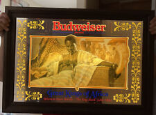 Vintage Lighted Budweiser King Of Africa Sign It Works! 28 X 20