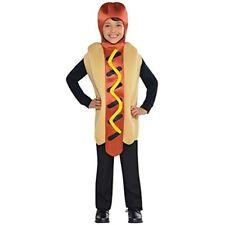 Hot Dog Jumpsuit Kids Fancy Dress American Food Fun Boys Girls Childrens