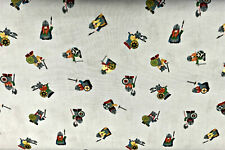 0.5 metre Vikings on Grey Lewis & Irene 100% Cotton Fabric 112cm wide