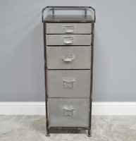Industrial Metal Cabinet 5 Drawer Storage Chest Organiser Unit Filing Cupboard