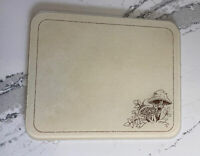 """Corelle Forest Fancies Mushrooms Counter Saver Tempered Glass 20"""" Cutting Board"""