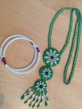 Vintage Beaded Necklace and Bracelet in Native American Style