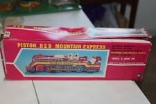 NICE MODERN TOYS TIN BATTERY OPERATED PISTON RED MOUNTAIN EXPRESS TRAIN BOX only