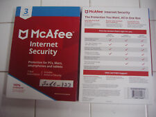 McAfee Antivirus/Internet Security For PCs, Macs, Smartphones, Tablets 3 Devices