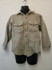Ll Bean Vintage Northwoods Shirt Mens Gray 15-15.5 Pure Wool Button Front Medium