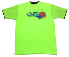 Vintage 90s Royal Caribbean Sea Trek Bahamas Neon Green Shirt Mens One Size XL