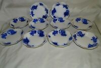 W.H. Grindley England Gironde Flow Blue Set of 10 Cereal Bowls 6""