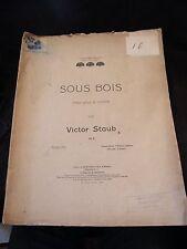 Partition Sous bois pour Piano Victor Staub Music Sheet