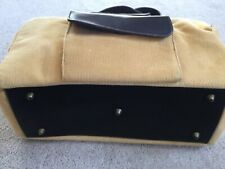 Woolrich Yellow Tan Straw Corduroy Pet Carrier Tote Cat Dog Ferret