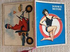 CALENDARIETTO BARBIERE 1963 - DONNE E MOTORI - SEGNI STRADALI E PIN UP SEXY