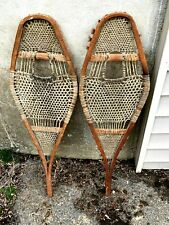 Vintage Wooden Snowshoes  - 9 by 30 Inches - Child's Size