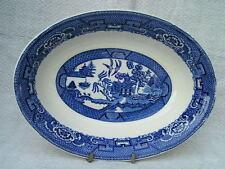 Vintage Homer Laughlin Blue Willow Oval Serving Bowl j41 N6 USA