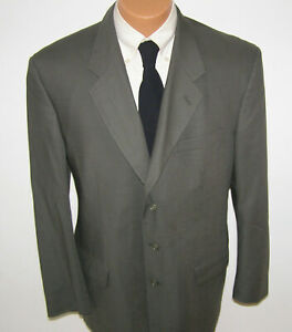 JONES NEW YORK Mens Green Imported GOLDEN TWIST Fabric Suit 43