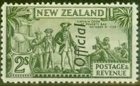 New Zealand 1942 2s Olive-Green SG0132c var Re-entry V.F Very Lightly Mtd Mint