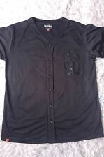 259df9b9a7ae7 Mens MOSSIMO American Football Style Jersey Top Black Vinyl New casual MED