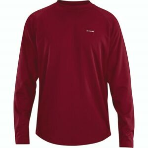 Dakine Hex Crew Midweight Base Layer Shirt, Men's Large, Garnet Red New