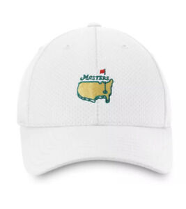 Masters Golf Hat WHITE Textured Performance - Augusta National - New W Tags