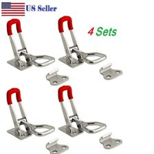 4pcs  Steel Toggle Latch Catches Adjustable Lock Clamp For Boxes Case