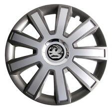 Set of 16'' Wheel trims hubcaps for Vauxhall Vivaro - silver/graphite
