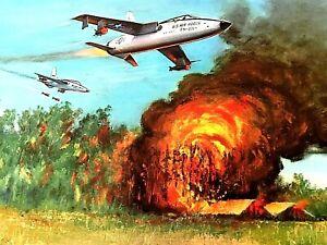 "Charles H Hubbell ""THUNDER OVERHEAD"" Republic F-105D Thunderchief Art Print"