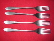 Four WMF Cromargan Stuart (pointed tip) Dinner Forks
