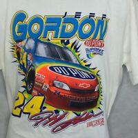 Vintage Jeff Gordon 24 T Shirt Sz Xl Chase Nascar 1998 Nutmeg White Dupont