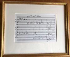"""Composer Michael Dellaira Autograph Musical Quote """"Death of Webern"""""""