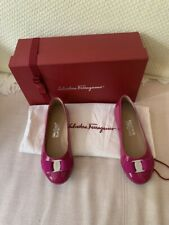 SALVATORE FERRAGAMO Girl's 'Varina Mini' Pink Pumps. Size EU 28. NEW WITH BOX