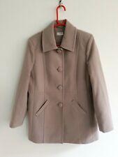 Damart Womens Ladies Beige Cream Long Trench Coat Jacket Uk 14