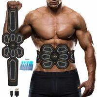 Belt Abs Stimulator Muscle Toner EMS Press Trainer Abdomen Fitness Home Workout