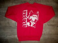 Vintage College House Alaska Wolf Pullover Sweatshirt Sweater Men's Size Small