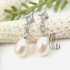 AU SELLER Droped White Genuine Pearl Earrings 05027-2
