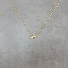 Grizzly Bear Gold Plated Necklace Gift Box California Kodiak Bear Animal State