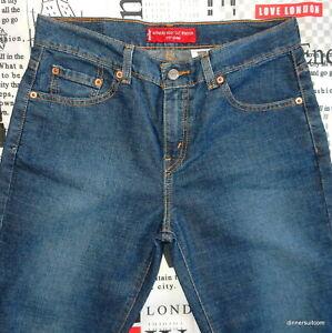 womans size 8 PET S Levi's 515 Jeans Bootcut Stretch Denim Blue 3D Fade SUPERB