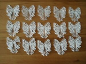 15 x Die Cut Bows cut from White 250 gsm Card Stock