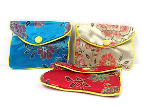 Pouch Purse Gift Bag Silk Satin Jewellery Small Change Coins Notes 4 Pack New UK