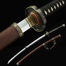 Tachi Sword Hardness Steel Real Handmade Full Tang Japanese Katana Samurai Sword