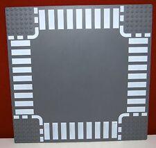 Lego Platte, Straßenplatte, Basic 44343 dark bluish gray, 32x32, Kreuzung, 25x25