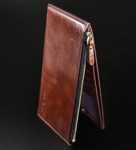 Men's Bifold Leather Credit Card Holder Billfold Wallet Purse Checkbook Clutch 1
