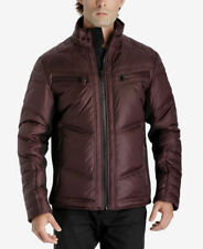 $551 MICHAEL KORS Men RED DOWN QUILTED PUFFER WINTER WARM JACKET COAT SIZE M