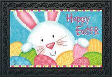 """Bunny and Eggs Easter Doormat Easter Bunny Indoor Outdoor 18"""" x 30"""""""