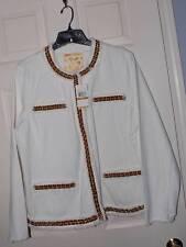Michael Kors® White Denim Fray Jacket. Wmns Plus Size 16W - NWT