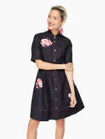 Kate Spade New York - Rose Denim Shirtdress - Size US 6 - Dress - NEW WITH TAGS