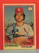 Pete Falcone St Louis Cardinals 1978 Autographed Card