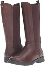 BNIB Girls leather Geox Sofia Brown long boots size 11 RRP £79.99