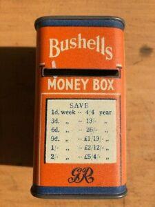 BUSHELLS Money Box tin - excellent graphics - shaped like ½lb packet